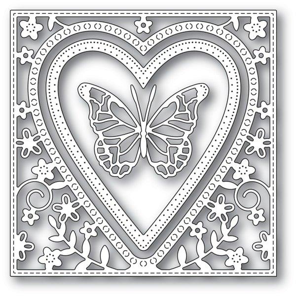 Memory Box - Butterfly Heart Frame Die