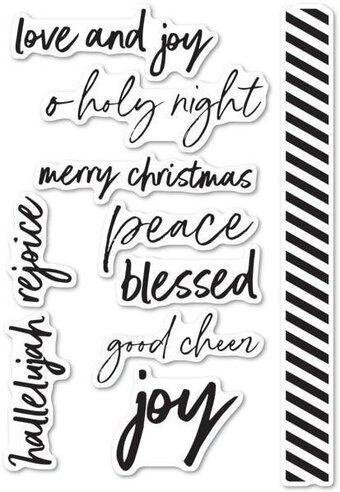 Memory Box - Bold Christmas Greetings Stamp Set