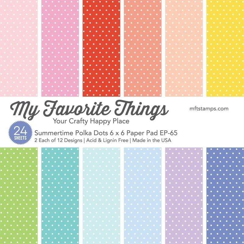 MFT - Summertime Polka Dots Paper Pad 6x6
