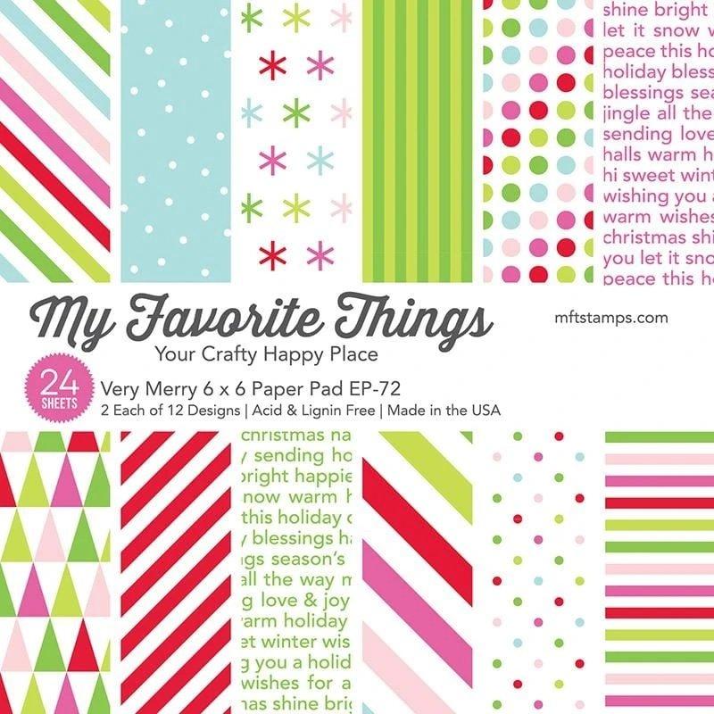MFT - Very Merry Paper Pad 6x6