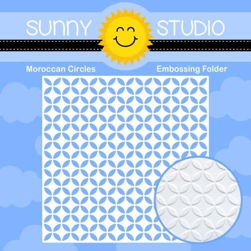 Sunny Studio - Moroccan Circles 6x6 Embossing Folder