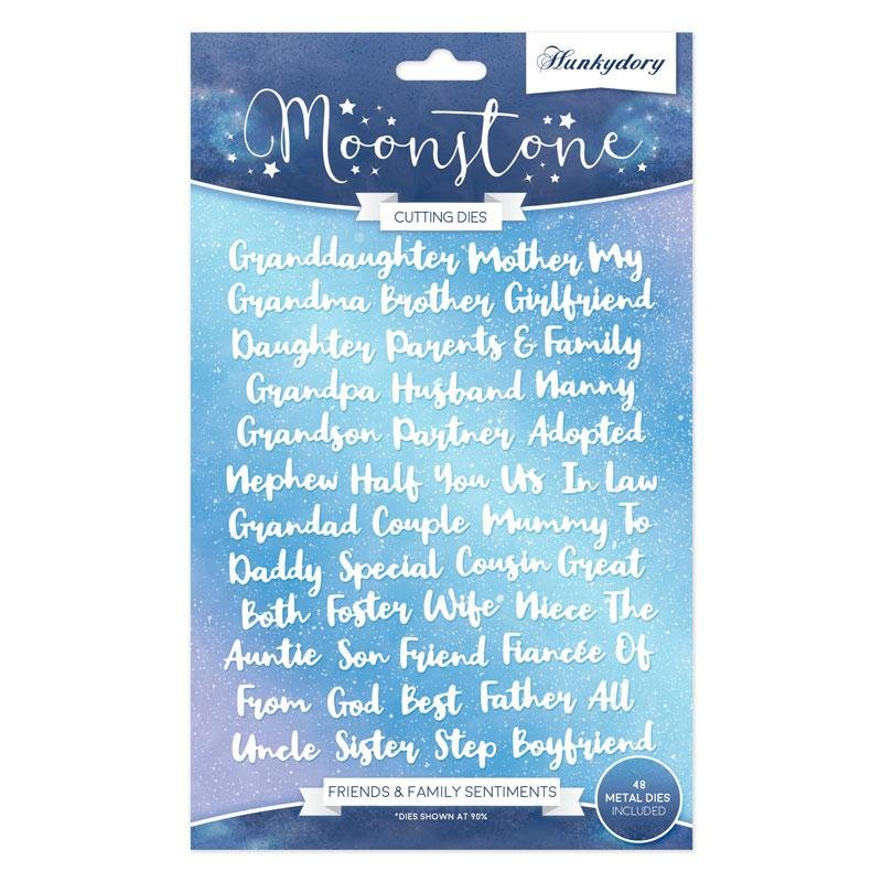 Moonstone - Friends & Family Sentiment Die Set