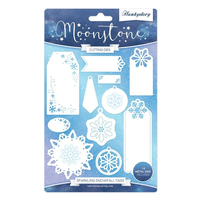 Hunkydory Crafts - Sparkling Snowfall Tags Moonstone Die Set