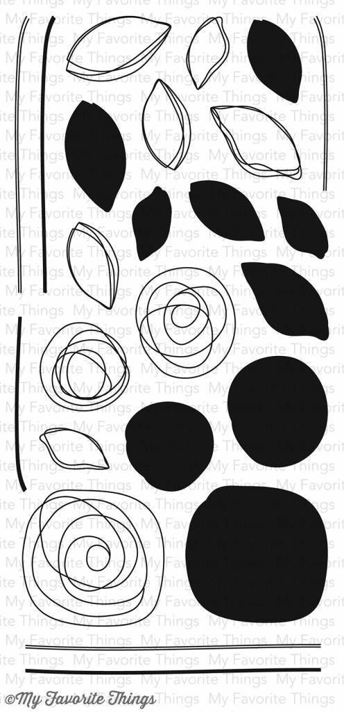 MFT - Circle Scribbles Flowers Stamp/Die Set