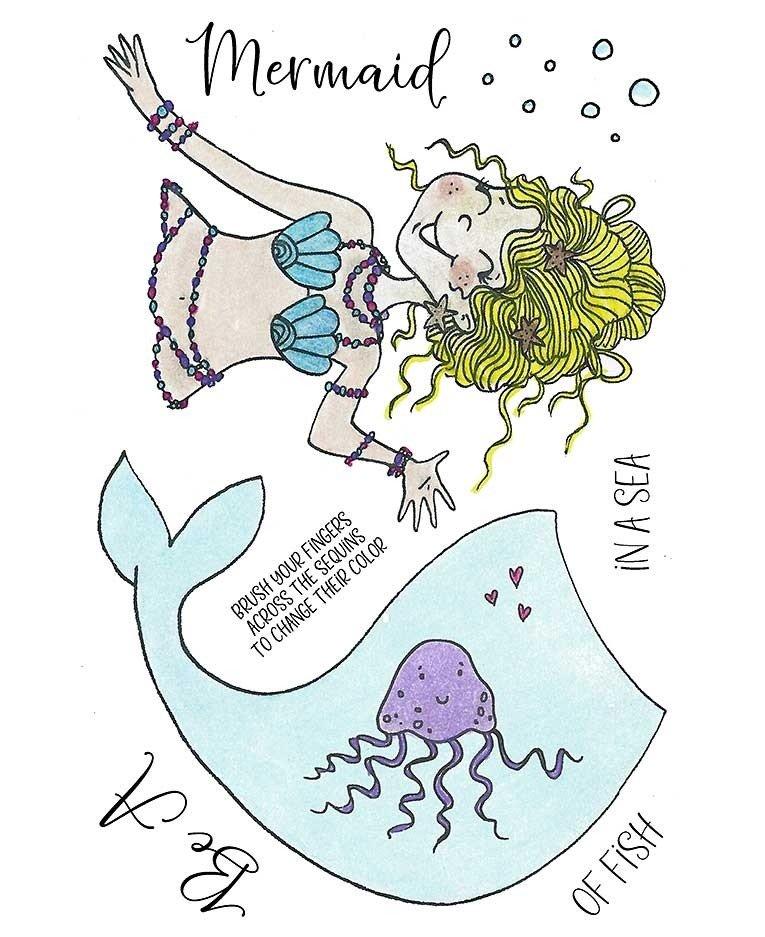 Inky Antics - Mermaid Stamp/Die Set