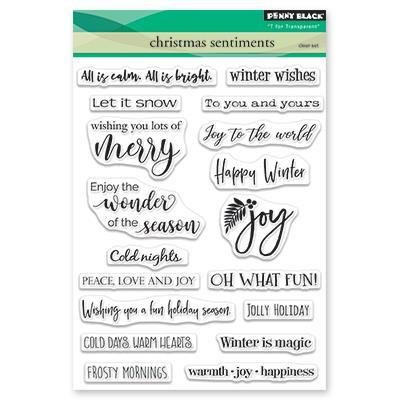 Penny Black - Christmas Sentiments Stamp Set