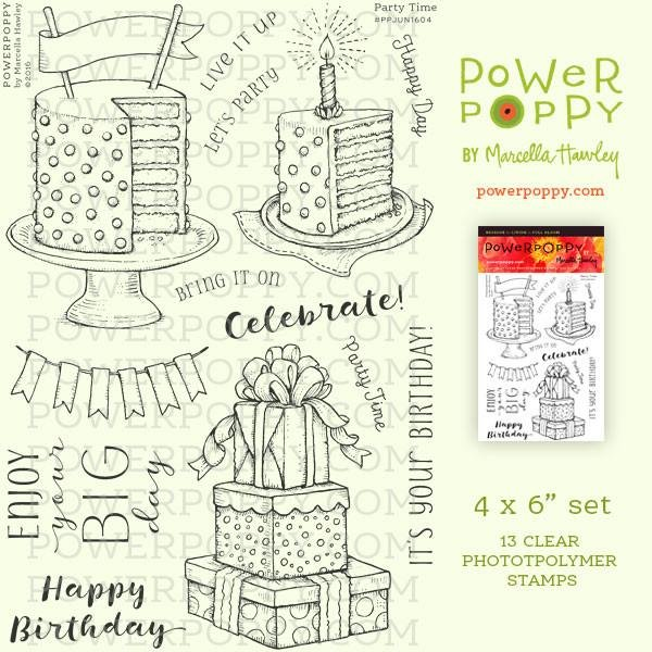 Power Poppy - Party Time Stamp Set