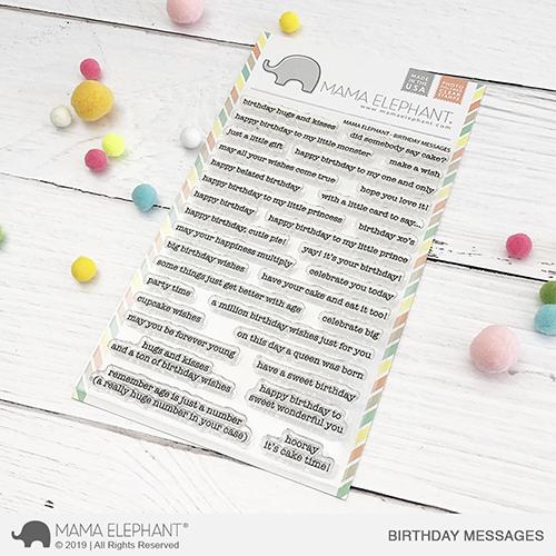 Mama Elephant - Birthday Messages Stamp Set