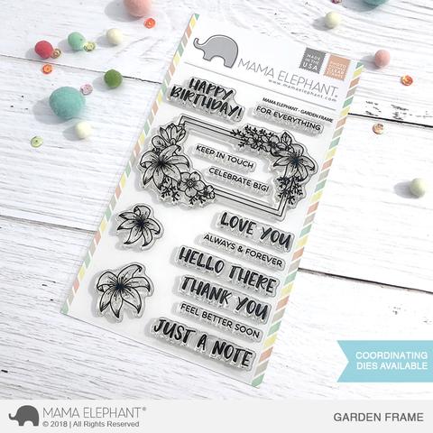 Mama Elephant - Garden Frame Stamp Set