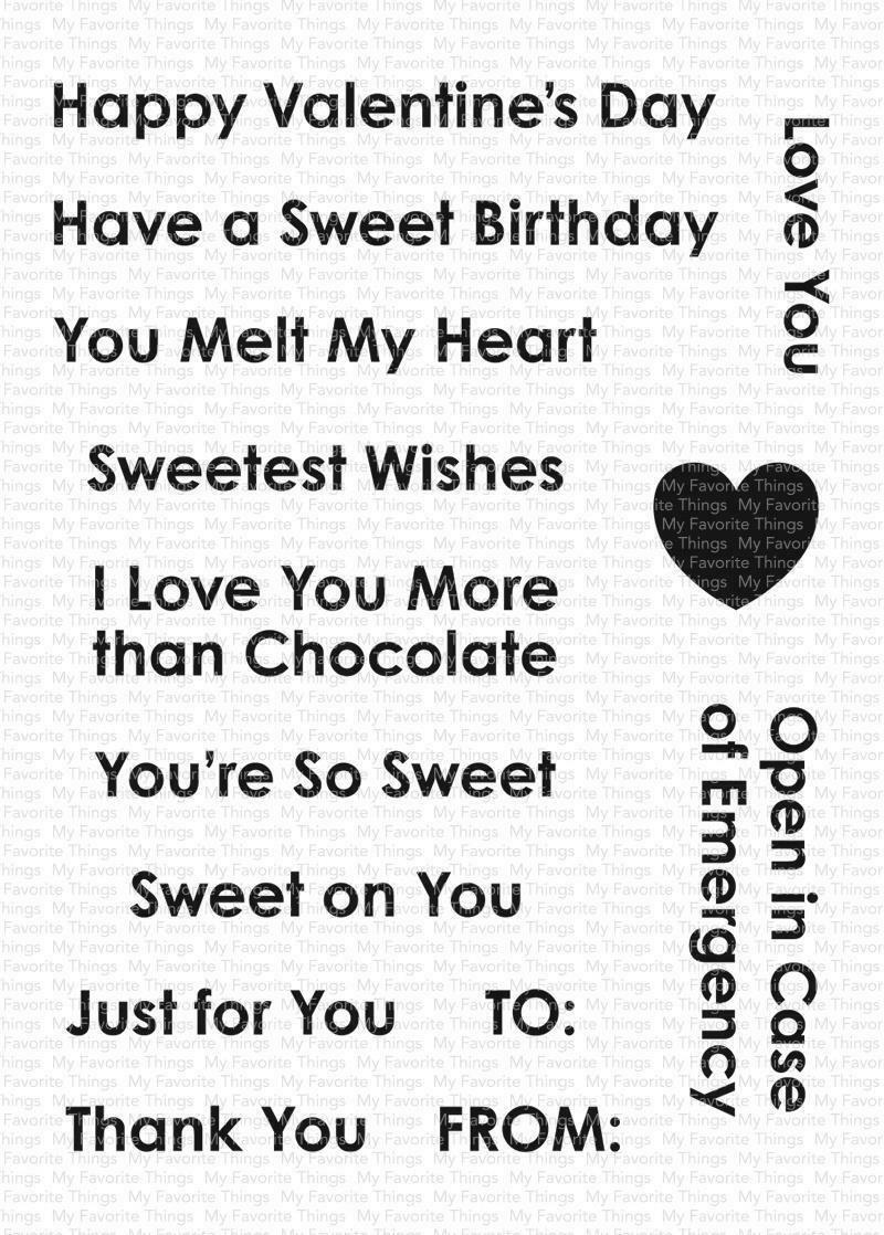 MFT - Sending Sweet Celebrations Stamp Set