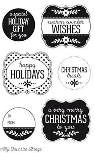 MFT - Christmas Labels & Tags Stamp & Die Combo Set