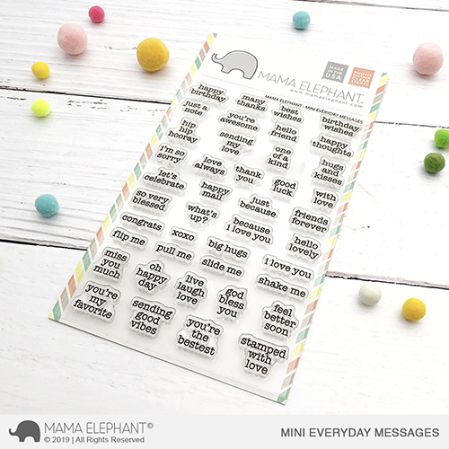 Mama Elephant - Mini Everyday Messages Stamp Set