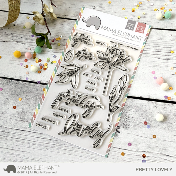 Mama Elephant - Pretty Lovely Stamp Set