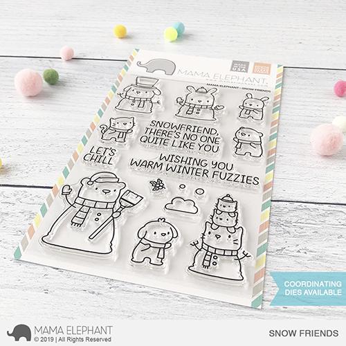 Mama Elephant - Snow Friends Stamp Set