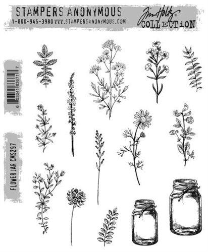 Stampers Anonymous - Tim Holtz Flower Jar Stamp Set
