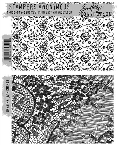 Stampers Anonymous - Tim Holtz Ornate & Lace Stamp Set