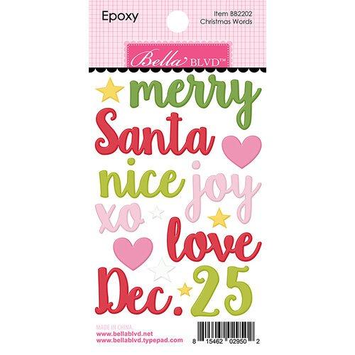Bella Blvd - Christmas Words Expoxy Stickers