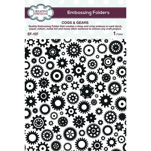 Creative Expressions - Cogs & Gears Embossing Folder