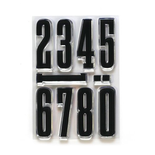 Elizabeth Craft Designs - Long & Tall Numbers Stamp Set