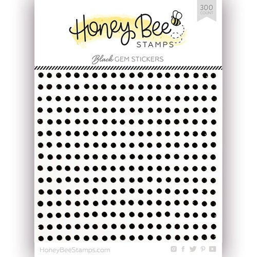 Honey Bee Stamps - Black Gem Stickers