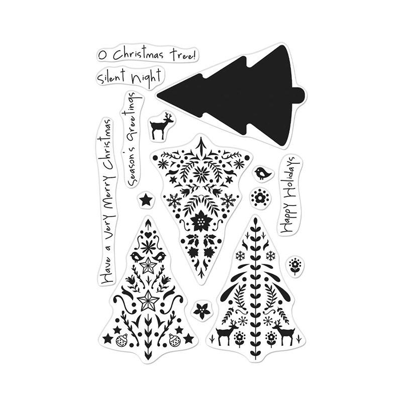 Hero Arts - Layering Nordic Tree Stamp Set