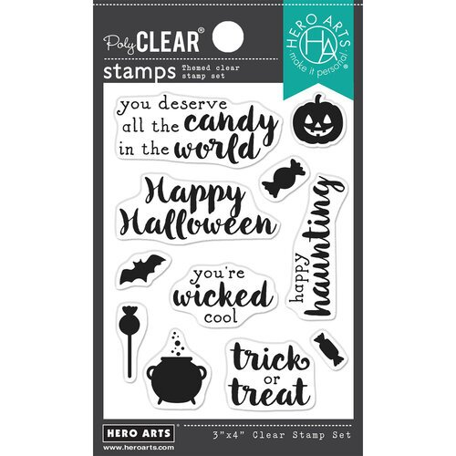 Hero Arts - Hero Greetings Halloween Stamp Set
