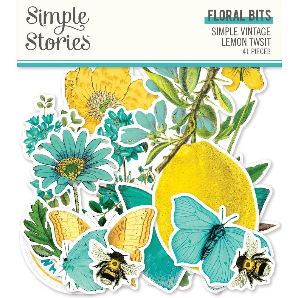 Simple Stories - Lemon Twist Floral Bits and Pieces