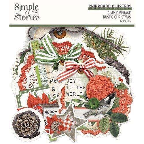 Simple Stories - Simple Vintage Rustic Christmas Chipboard Clusters