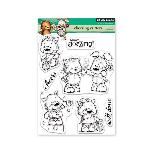 Penny Black - Cheering Critters Stamp Set