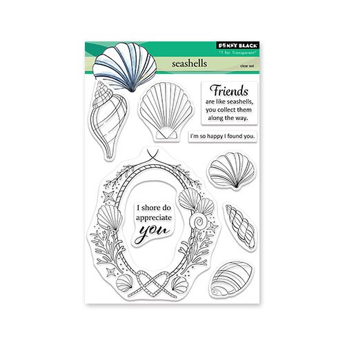 Penny Black - Seashells Stamp Set