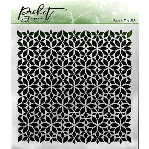 Picket Fence - Flower Stencil