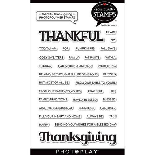 Photo Play - Thankful/Thanksgiving Stamp Set