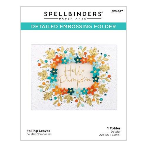 Spellbinders - Falling Leaves Embossing Folder