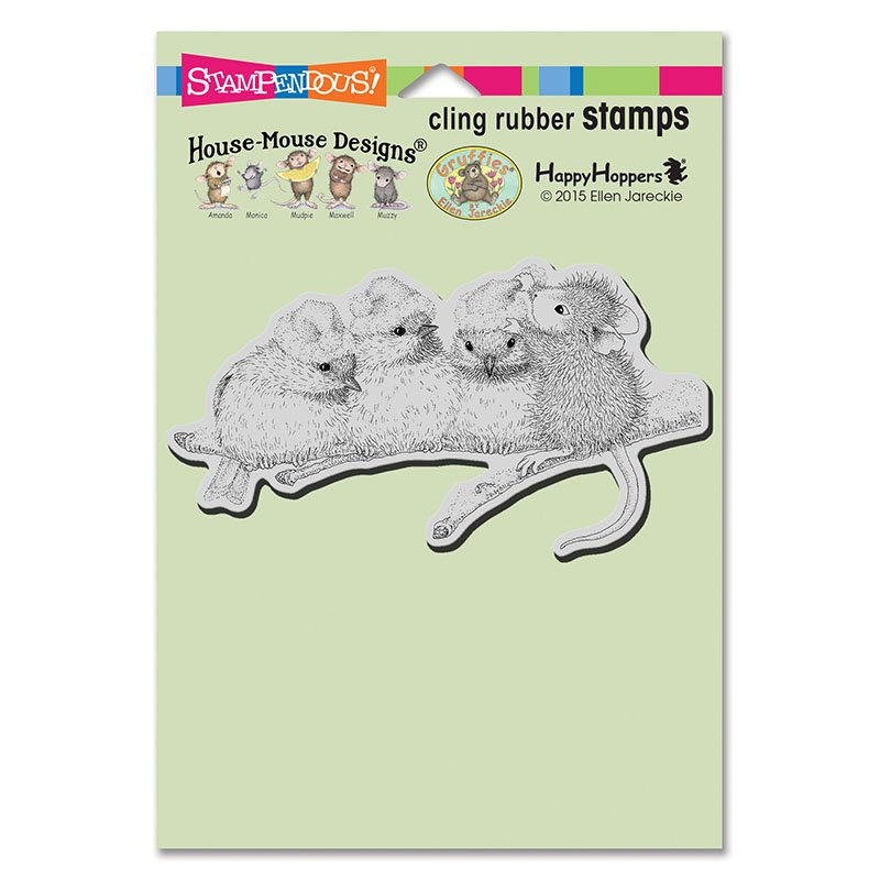 Stampendous House Mouse Cling Stamp-Holiday Hedgehog HMCP128