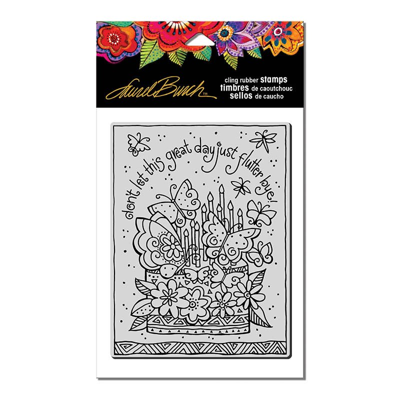 Laurel Burch - Flutterby Cake Cling Stamp