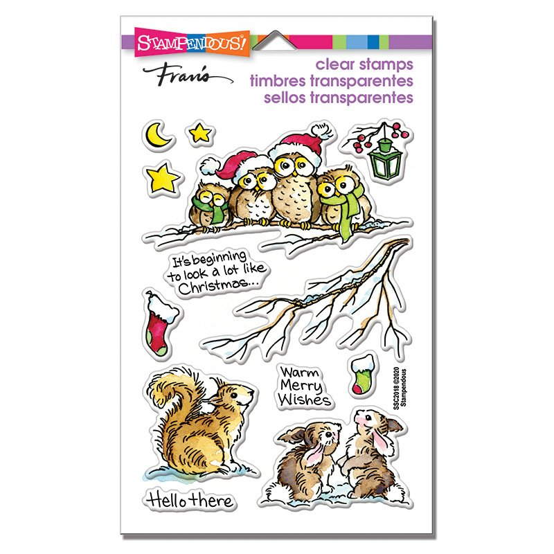 Stampendous - Critter Christmas Stamp Set