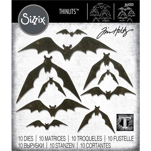 Sizzix - Bat Crazy Thinlits Die Set
