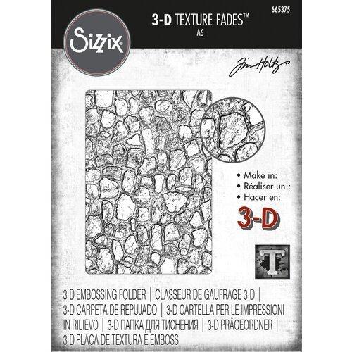 Sizzix - Cobblestone 3D Texture Fades Embossing Folder