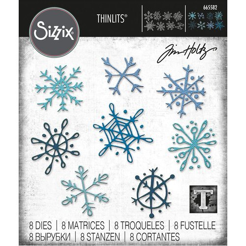 Sizzix - Scribbly Snowflakes Thinlits Die by Tim Holtz