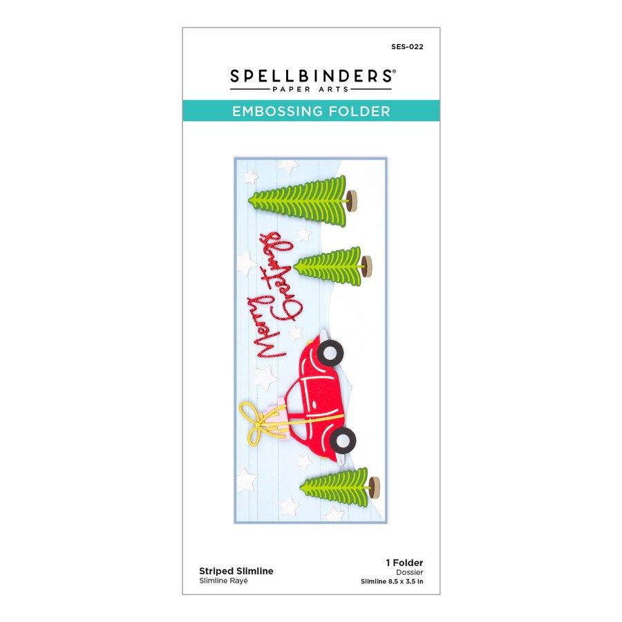 Spellbinders - Striped Slimline Embossing Folder
