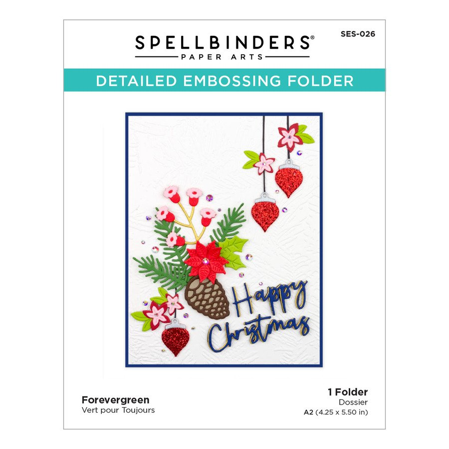 Spellbinders - Forevergreen Embossing Folder