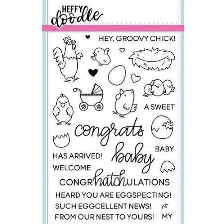 Heffy Doodle - Eggcellent News Stamp/Die Set