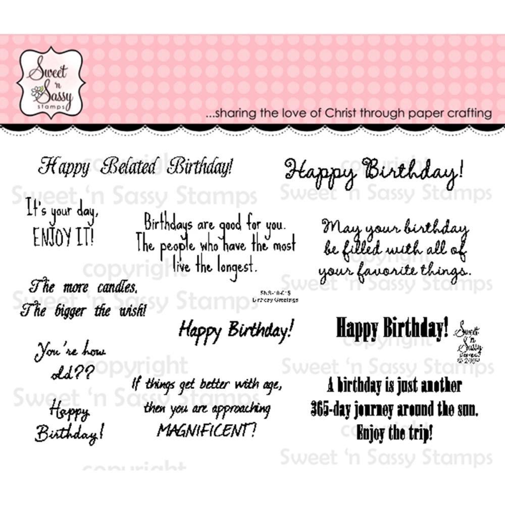 Sweet 'n Sassy - Birthday Greetings Stamp Set