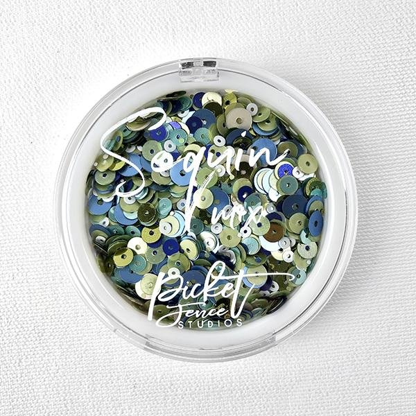 Picket Fence - Blueberry Mojito Sequin Mix