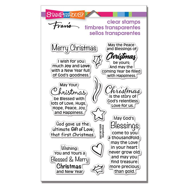 Stampendous - Blessed Christmas Stamp Set