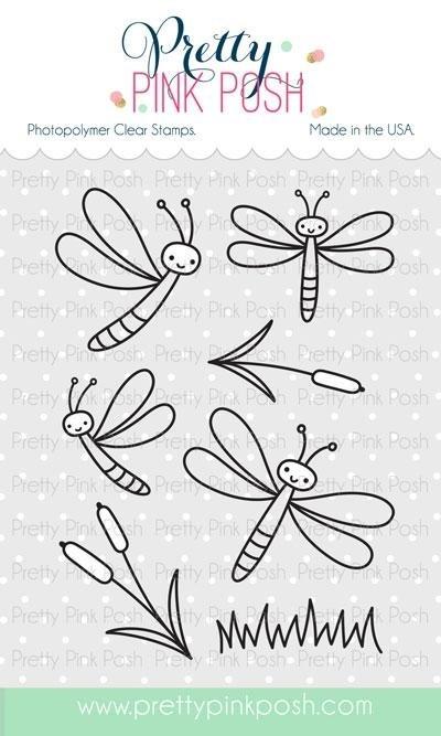 Pretty Pink Posh - Darling Dragonflies Stamp Set