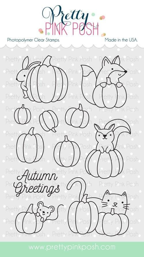 Pretty Pink Posh - Pumpkin Patch Critters Coordinating Stamp & Die Set