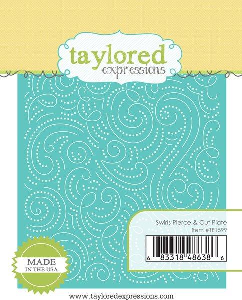 Taylored Expressions - Swirls Pierce & Cut Plate Die