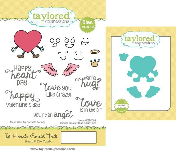 Taylored Expressions - If Hearts Could Talk Stamp & Die Combo