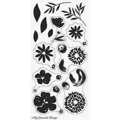 MFT - Brushstroke Blooms Stamp Set